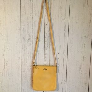 Handbags - COACH Yellow Crossbody Purse